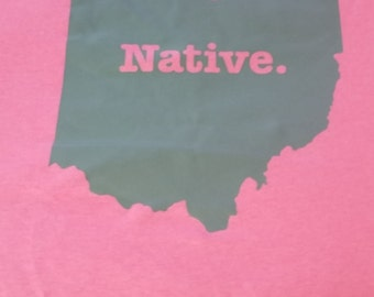 states t shirt natives homeland cool tshirt  ohio native usa state t-shirt T shirts cool tee home