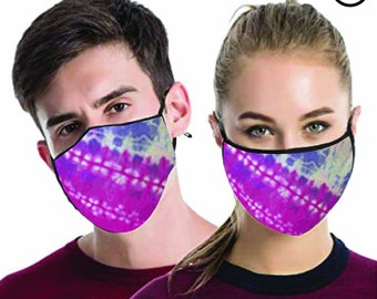 cool Tie Dye FACE MASK , match Face MASK couple | Matching Couples Face masks - 2 pcs