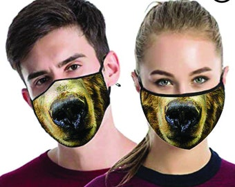 bear FACE MASK , match Face MASK couple | Matching Couples Face masks - 2 pcs
