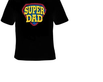 super dad t-shirt cool tee shirt father daddy dads gift papa