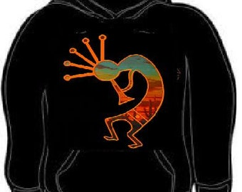 Hoodies: kokopelli dancing  hoodie sweat shirt unisex