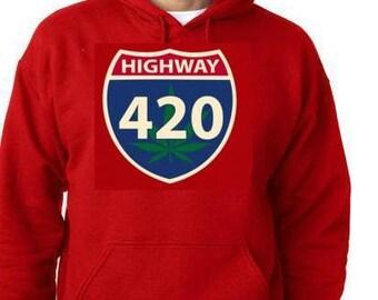 highway 420 funny hoodie sweaters shirt hoody t-shirts high way logo sign