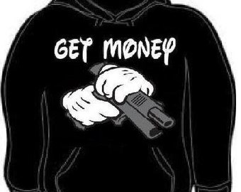 Hoodie get money cartoons hands funny hoodies sweatshirt unisex adults hand cartoon
