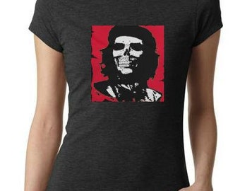ladies women CHE  guevara - ASESINO tops shirt cool t shirt  t-shirts che skull face today