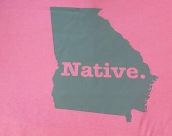 states t shirt natives cool home t shirt georgia native usa state t-shirt T shirts cool tee