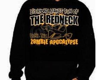 hoodies everyone makes fun of the redneck gifts:hoodie shirt screen print hoodies Funny Humorous clothes designs graphic hooded hoody
