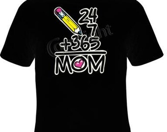 Tshirts: 7 24 365 days mom clothes love T Shirts Tees, Tee T-Shirt design cool mothers mom gift mama