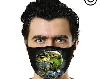 cute jumping muskie fish Facemask cover your face