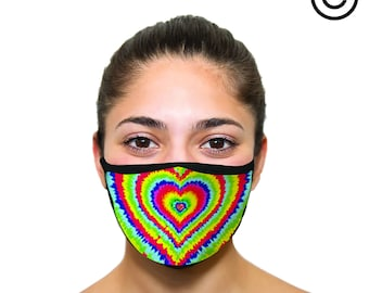 heart tie dye Face mask cover your face C.Y.F