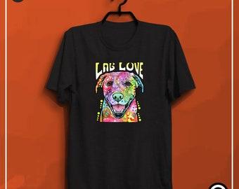LAB love dog t shirts