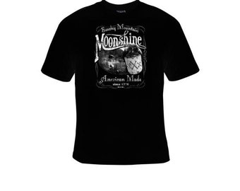 Smoky Mountain Moonshine American made since 1776 T-shirts clothes T Shirts Tees, Tee T-Shirt design cool funny tee shirt