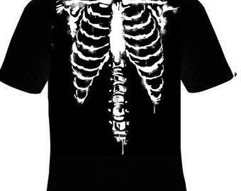 T shirts- skeletons ribs bones front rib bone skulls body halloween costume T Shirts Tees, Tee T-Shirt design cool funny  tee shirt