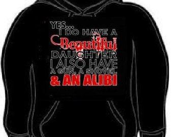 Hoodie dad gift beautiful daughter hoodies sweatshirt unisex adults rules for dating my