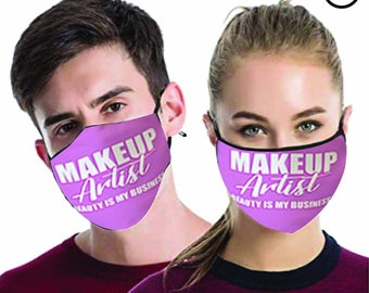 Makeup Artist FACE MASK , match Face MASK couple | Matching Couples Face masks - 2 pcs