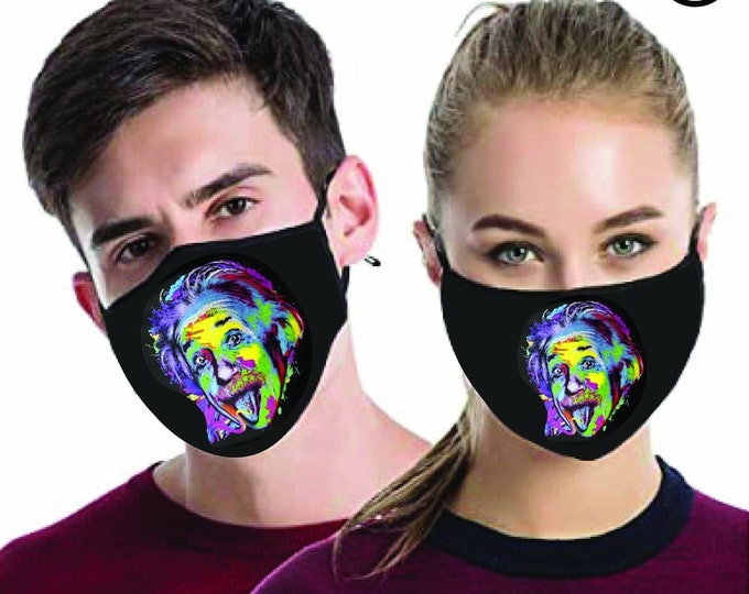 Einstein Face MASK | MATCHING Couples masks -  2 pcs face covering matching couple