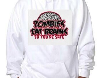 zombie eat brains you safe gift hoodie sweater shirt hoody t-shirts hoodies tees