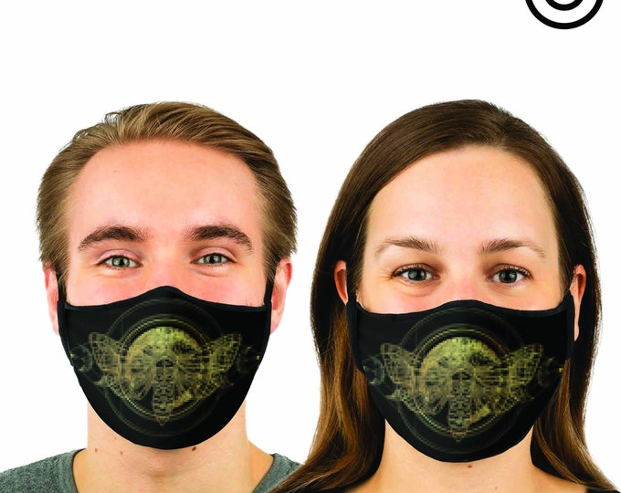 ALCHEMY Moth Face MASK | MATCHING Couples masks -  2 pcs face cover