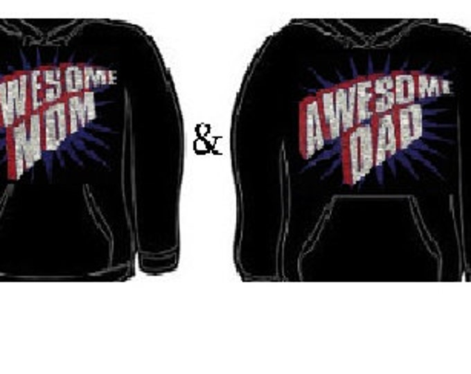 Hoodie: awesome mom dad wife husband together couples hoodies sweatshirt unisex cool lovely couple set gift for them