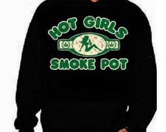 hot girls smoke pot funny cool hoodies Funniest Humorous designs hoodie graphic hooded hoody sweater shirt