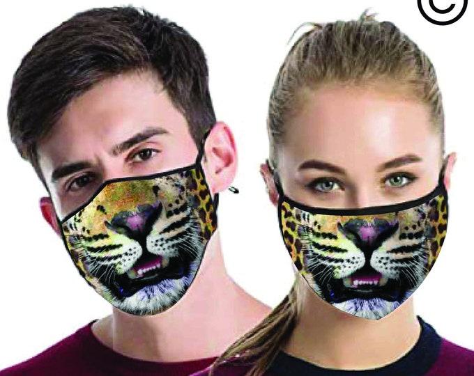 Leopard  FACE MASK , match Face MASK couple | Matching Couples Face masks - 2 pcs