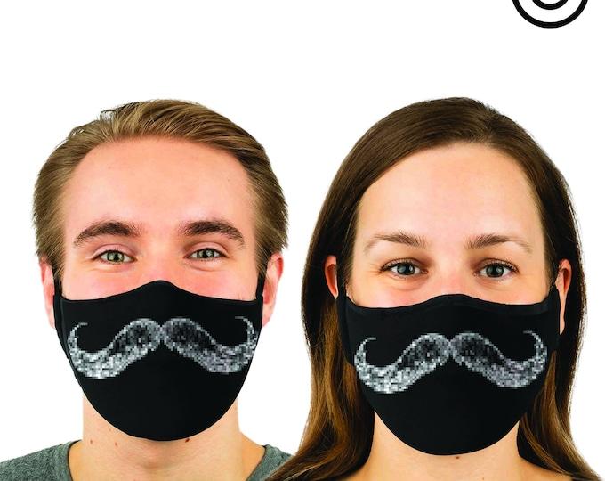 cool Match mustache Face MASK | MATCHING Couples masks -  2 pcs