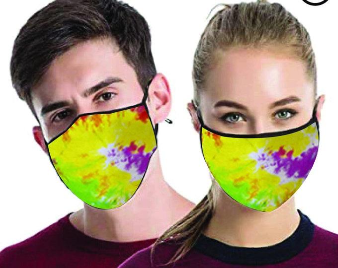 Festival Dye cool FACE MASK , match Face MASK couple | Matching Couples Face masks - 2 pcs