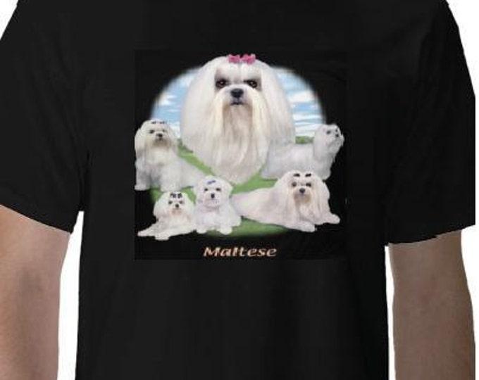 MALTESE - LAWN DOG Tshirts clothes T Shirts Tees,Tee T-Shirt designs pets animals cute