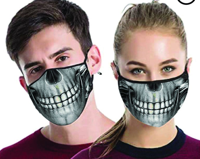 skull cool FACE MASK , match Face MASK couple | Matching Couples Face masks - 2 pcs