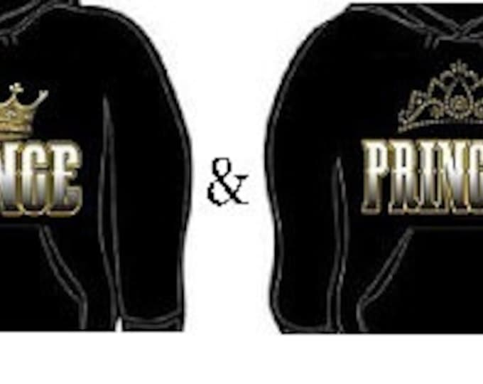 Hoodie: prince princess together couples hoodies sweatshirt unisex cool lovely couple set gift for them