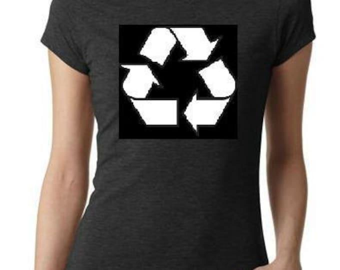 ladies women RECYCLE LOGO tops shirt cool t shirt  t-shirts funny