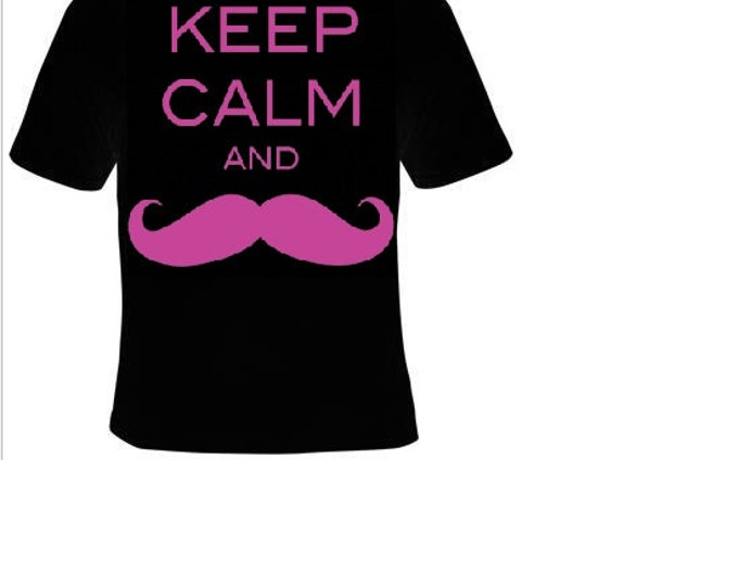 keep calm and mustache T-shirts funny cool t shirt unisex fun shirt