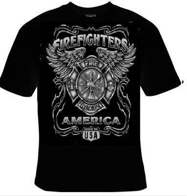 127d4137 Tshirts: firefighter usa T Shirts Tees Tee T-Shirt design | Etsy