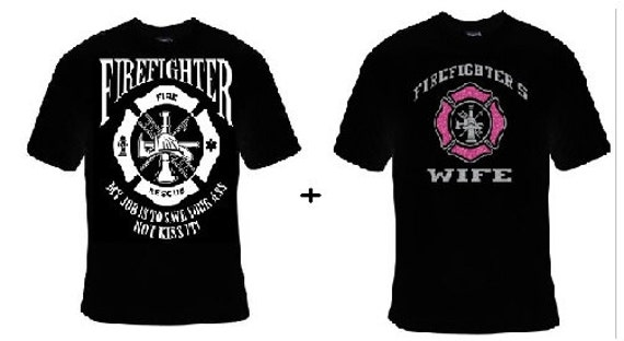 6eb785115 TShirts: Firefighters husband firefighter wife with glitter | Etsy