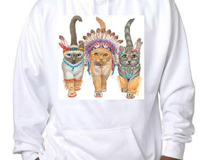 hoodies: indians cats hoodie sweater shirt hoody teez cat kittens