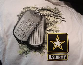 army t-shirt proud  u.s. army husband father papa  tag  army t-shirt gift t shirts