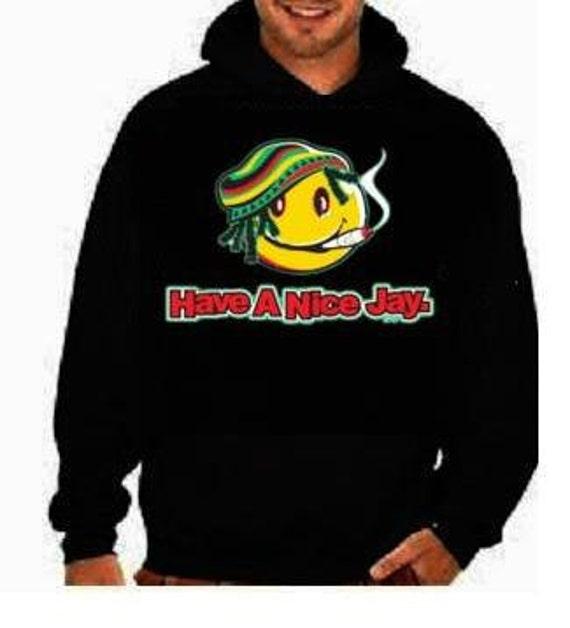 Hoodie Smily Have A Nice Jay Yaman Jamaica Sweat Shirts Etsy