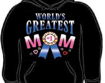 Hoodie:  worlds greatest mom #1 mothers gift mama hoodies sweat shirt unisex adults