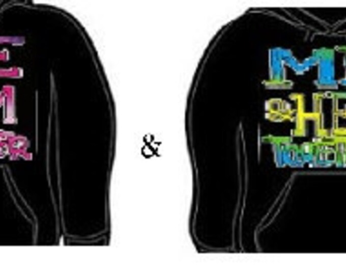 Hoodie: me and him her together couples hoodies sweatshirt unisex cool lovely couple set gift for them