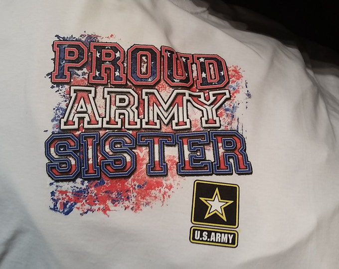 cool army t-shirt proud army sister  u.s. army t-shirt gift t shirts