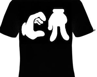 TShirts: Ca california cartoon style hands  fingers cali  cartoons hands finger logo