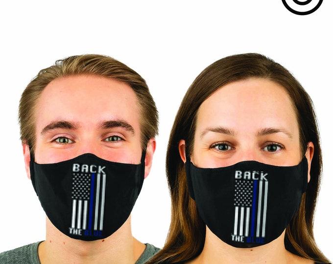 back THE blue police- Face MASK | MATCHING Couples masks -  2 pcs