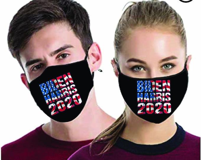 JOE Biden Harris usa flag  voting 2020 MATCHING- Couples masks - Match Face MASK - biden 2 pcs