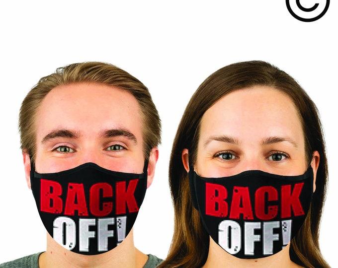 back off - Face MASK | MATCHING Couples masks -  2 pcs