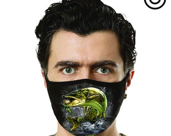 jumping muskie fish Face mask cover your face C.Y.F