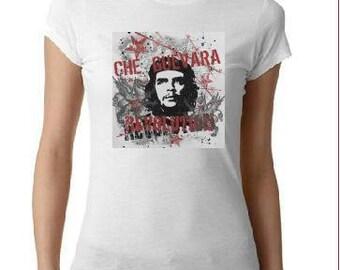 ladies women tops shirt  CHE GUEVARA screen printed cool t shirt t