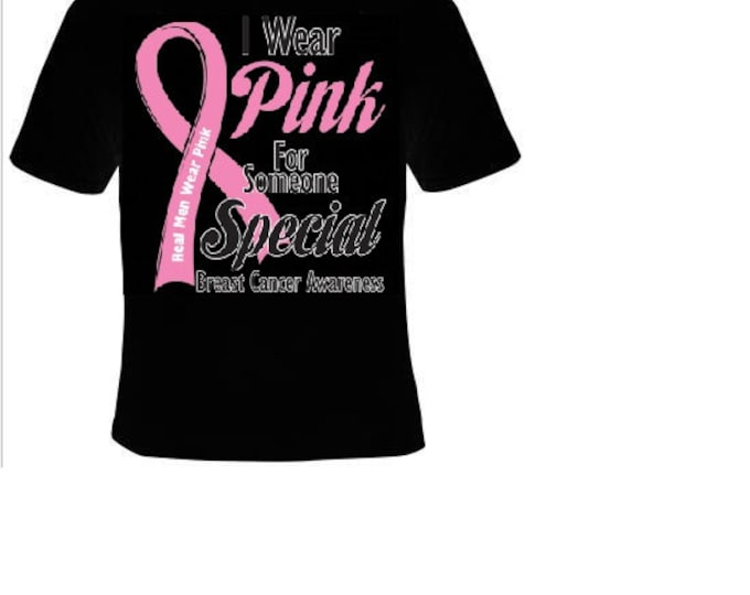 wear pink for someone special t shirt breast cancer t-shirts