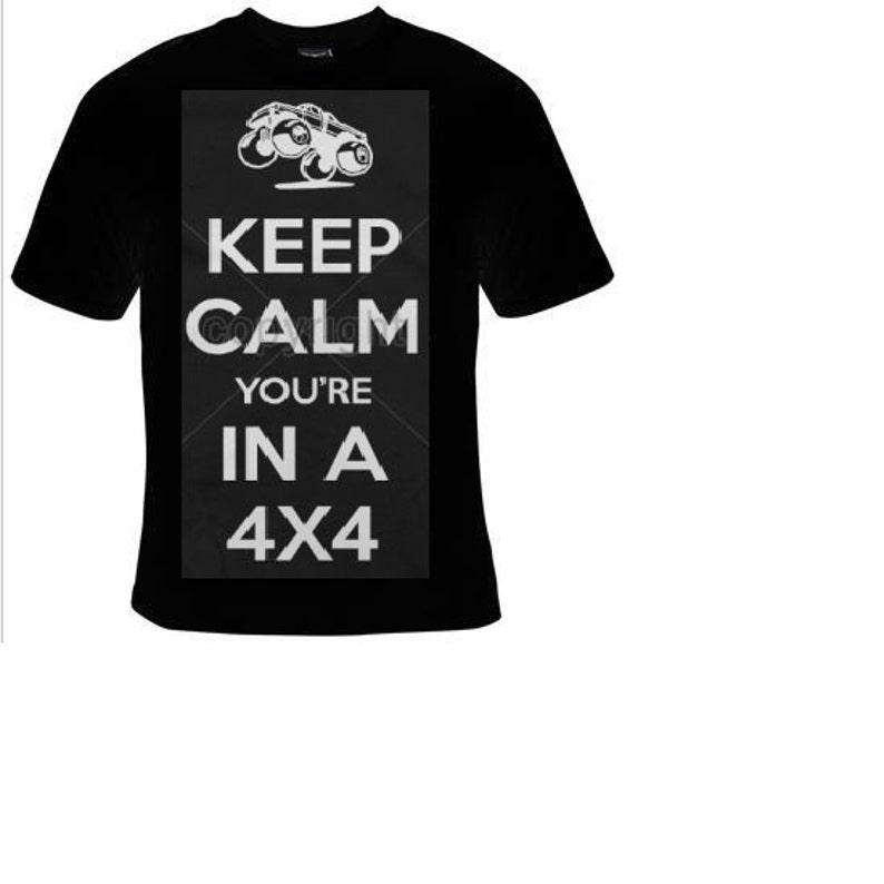 18171015 Keep calm you are in 4x4 jeep T-shirts funny cool Tshirt cool | Etsy