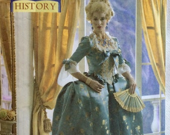 Butterick Pattern 4485 - 18th Century Court Dress/Marie Antoinette Costume - Sizes 6-12 or 14-20 UNCUT