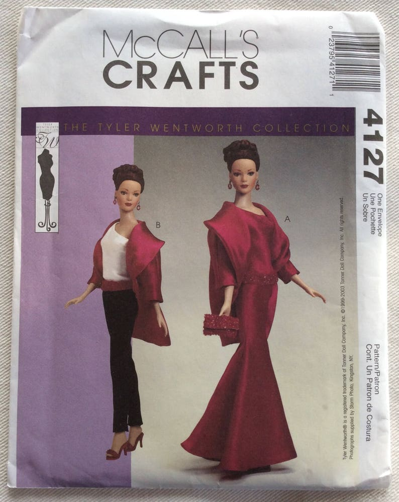 Vogue Dress Doll Clothes Sewing Pattern Tyler Tonner