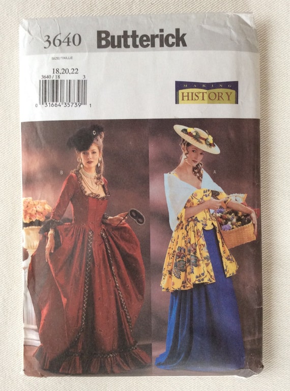 Butterick Sewing Pattern Pleated Bustle Skirt Top 14 16 18 20 Victorian 5696